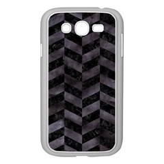 Chevron1 Black Marble & Black Watercolor Samsung Galaxy Grand Duos I9082 Case (white)
