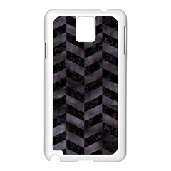 Chevron1 Black Marble & Black Watercolor Samsung Galaxy Note 3 N9005 Case (white)