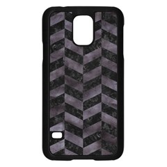 Chevron1 Black Marble & Black Watercolor Samsung Galaxy S5 Case (black)