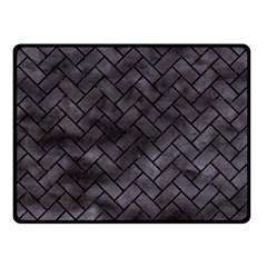 Brick2 Black Marble & Black Watercolor (r) Fleece Blanket (small)