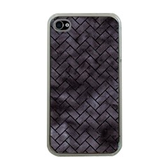 Brick2 Black Marble & Black Watercolor (r) Apple Iphone 4 Case (clear)
