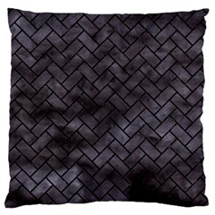 Brick2 Black Marble & Black Watercolor (r) Large Cushion Case (two Sides)