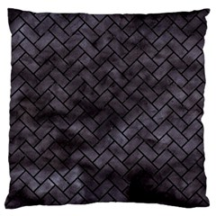 Brick2 Black Marble & Black Watercolor (r) Standard Flano Cushion Case (two Sides)