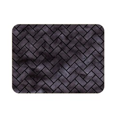 Brick2 Black Marble & Black Watercolor (r) Double Sided Flano Blanket (mini)