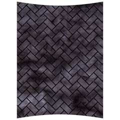 Brick2 Black Marble & Black Watercolor (r) Back Support Cushion
