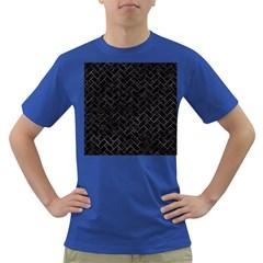 Brick2 Black Marble & Black Watercolor Dark T Shirt