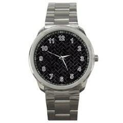 Brick2 Black Marble & Black Watercolor Sport Metal Watch