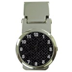 BRICK2 BLACK MARBLE & BLACK WATERCOLOR Money Clip Watches Front