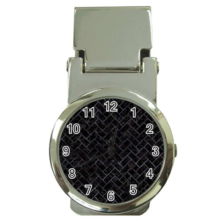 BRICK2 BLACK MARBLE & BLACK WATERCOLOR Money Clip Watches