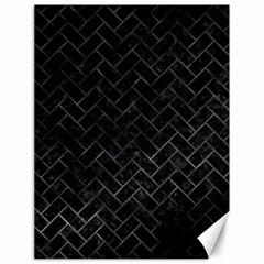 Brick2 Black Marble & Black Watercolor Canvas 18  X 24