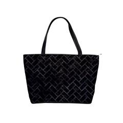 Brick2 Black Marble & Black Watercolor Shoulder Handbags