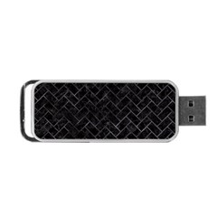 Brick2 Black Marble & Black Watercolor Portable Usb Flash (two Sides)