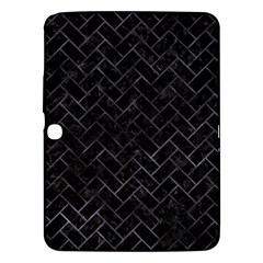 Brick2 Black Marble & Black Watercolor Samsung Galaxy Tab 3 (10 1 ) P5200 Hardshell Case