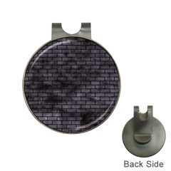Brick1 Black Marble & Black Watercolor (r) Hat Clips With Golf Markers