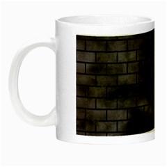 Brick1 Black Marble & Black Watercolor (r) Night Luminous Mugs