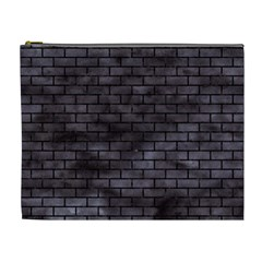 Brick1 Black Marble & Black Watercolor (r) Cosmetic Bag (xl)