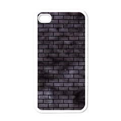 Brick1 Black Marble & Black Watercolor (r) Apple Iphone 4 Case (white)