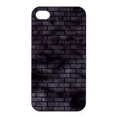 Brick1 Black Marble & Black Watercolor (r) Apple Iphone 4/4s Premium Hardshell Case