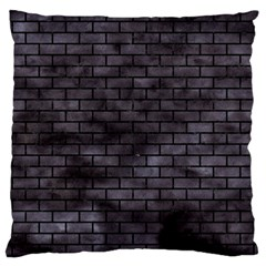 Brick1 Black Marble & Black Watercolor (r) Large Cushion Case (one Side)