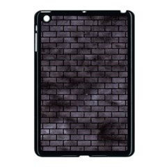 Brick1 Black Marble & Black Watercolor (r) Apple Ipad Mini Case (black)