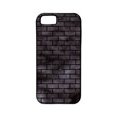 Brick1 Black Marble & Black Watercolor (r) Apple Iphone 5 Classic Hardshell Case (pc+silicone)