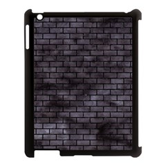Brick1 Black Marble & Black Watercolor (r) Apple Ipad 3/4 Case (black)