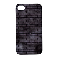 Brick1 Black Marble & Black Watercolor (r) Apple Iphone 4/4s Hardshell Case With Stand