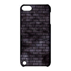 Brick1 Black Marble & Black Watercolor (r) Apple Ipod Touch 5 Hardshell Case With Stand