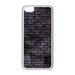 Brick1 Black Marble & Black Watercolor (r) Apple Iphone 5c Seamless Case (white)