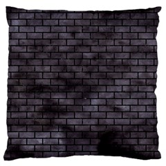 Brick1 Black Marble & Black Watercolor (r) Standard Flano Cushion Case (two Sides)