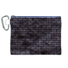 Brick1 Black Marble & Black Watercolor (r) Canvas Cosmetic Bag (xl)