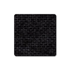 Brick1 Black Marble & Black Watercolor Square Magnet