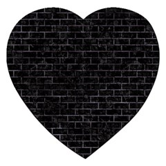 Brick1 Black Marble & Black Watercolor Jigsaw Puzzle (heart)