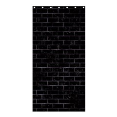 Brick1 Black Marble & Black Watercolor Shower Curtain 36  X 72  (stall)