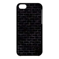 Brick1 Black Marble & Black Watercolor Apple Iphone 5c Hardshell Case