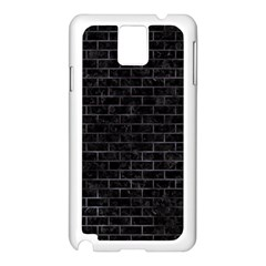Brick1 Black Marble & Black Watercolor Samsung Galaxy Note 3 N9005 Case (white)