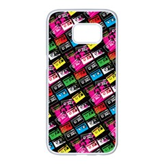 Pattern Colorfulcassettes Icreate Samsung Galaxy S7 Edge White Seamless Case