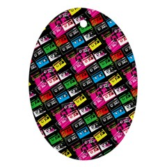 Pattern Colorfulcassettes Icreate Ornament (oval)