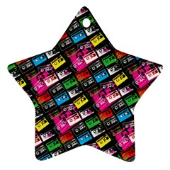 Pattern Colorfulcassettes Icreate Ornament (star)