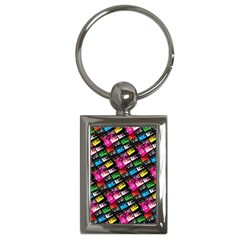 Pattern Colorfulcassettes Icreate Key Chains (rectangle)