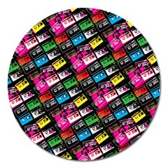 Pattern Colorfulcassettes Icreate Magnet 5  (round)