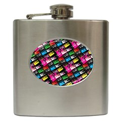 Pattern Colorfulcassettes Icreate Hip Flask (6 Oz)