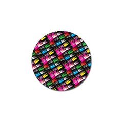 Pattern Colorfulcassettes Icreate Golf Ball Marker (4 Pack)