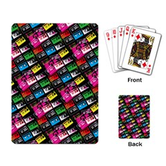 Pattern Colorfulcassettes Icreate Playing Card