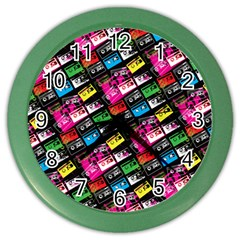 Pattern Colorfulcassettes Icreate Color Wall Clocks