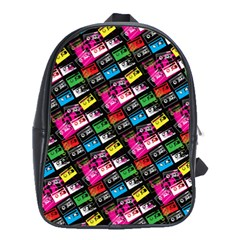 Pattern Colorfulcassettes Icreate School Bag (large)
