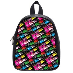 Pattern Colorfulcassettes Icreate School Bag (small)