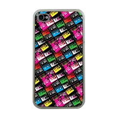 Pattern Colorfulcassettes Icreate Apple Iphone 4 Case (clear)