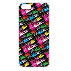 Pattern Colorfulcassettes Icreate Apple Iphone 5 Seamless Case (white)