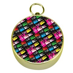 Pattern Colorfulcassettes Icreate Gold Compasses